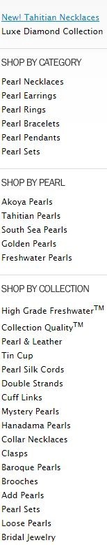 list of pearl options on american pearl