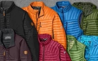 just a few of the  performance fleece and down outwerwear options from Eddie Bauer