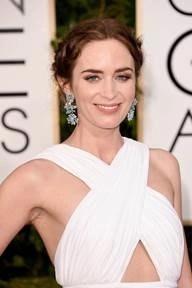 Emily Blunt's Golden Globe look — Take a look!  @Kiehls, #GoldenGlobes