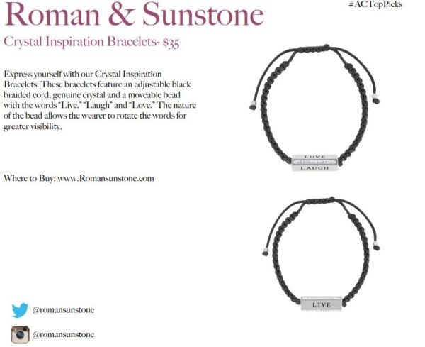 ROMAN AND SUNDSTONE BRACELETS