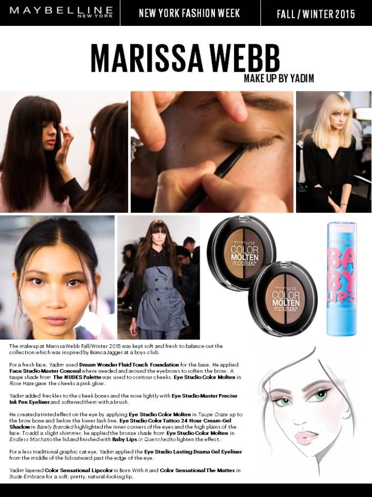 maybelline fall 2015 marissa webb