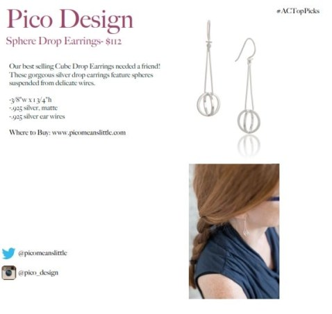 pico design earrings