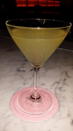 """a cocktail from """"The Happiest Hour"""" which is as close to a tropical bar you'll get in the middle of Winter in NYC"""
