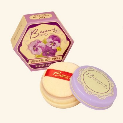besame brightening violet face powder