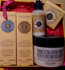 shea butter collection $72 loccitane