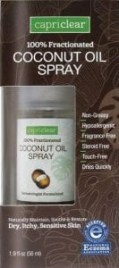 capriclear coconut oil spray