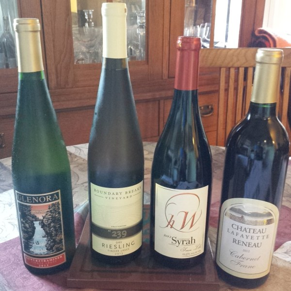 grouping of finger lakes wine