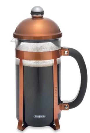 bonjour coffee press copper