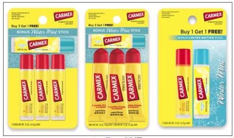 carmex lip balms mint