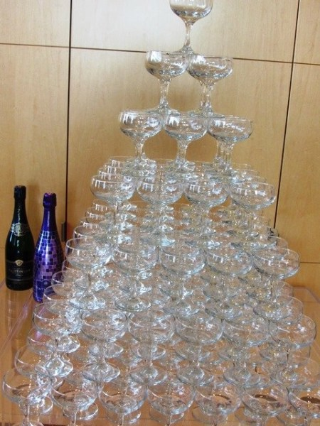 Celebrate with wine worth savoring +  DIY a champagne tower @TaittingerUSA, @palmazvineyards, #wine,  #TaittingerTime