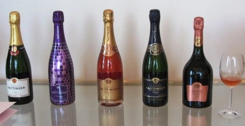 bottles of tattinger