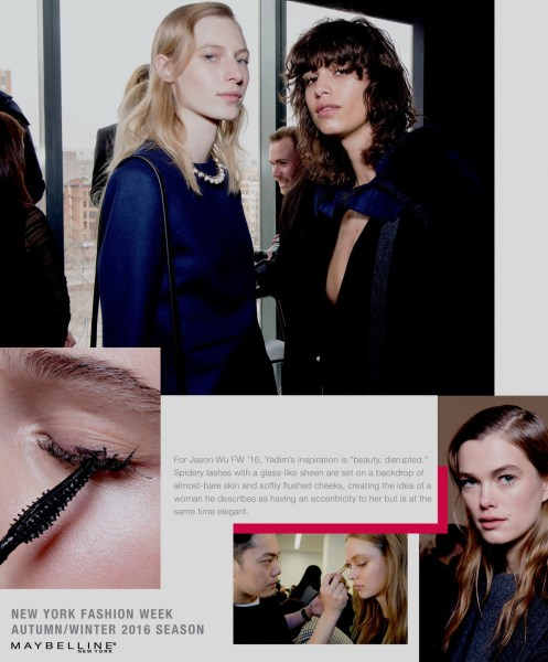 backstage beauty: Jason Wu and Maybelline Spring Summer 2015 #FW2016, $#fashionWeek