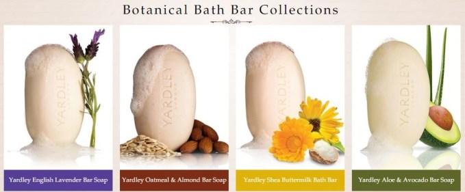 yardley of london botanical bath bar collection