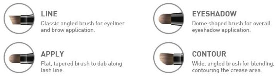 CAILYN COSMETICS 4 IN 1 EYE BRUSH TIPS