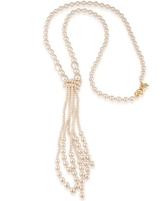 high line pearl tassel necklace from Carolee