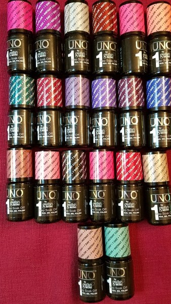 check out the 20 colors of UNO by Gelish Mini! nail polish