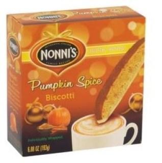 nonnis pumpkin spice biscotti