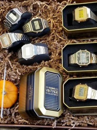 some additional Casio Vintage Collection watches seen at the Casio Holiday Preview