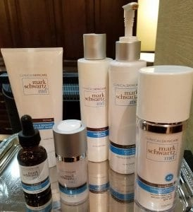 some of Dr. Mark Schwartz;s skincare products
