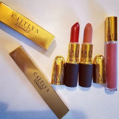 my photo of lip products from the Caitlyn Jenner Collection showing the outer cartons