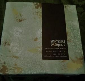 senteurs dorient mint soap leaves box