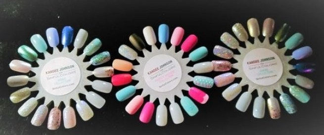 the Kandee Johnson Collection nail polish swatches