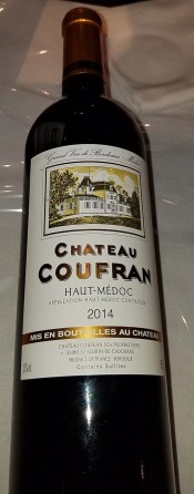 chatue coufran bordeau wine from france