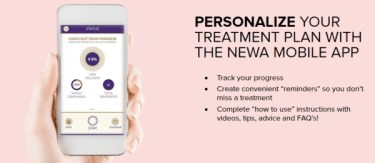 newa skincare treatment mobile app