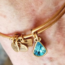 alex and ani living water charm bangle in gold