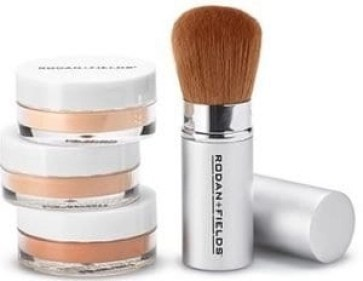 rodan + fields enhancements mineral powders with brush