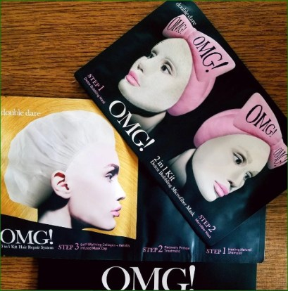 omg double dare spa masks for hair and face photo by alison blackman (C) 2017