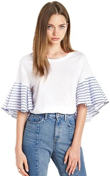 artic cubic ruffled sleeve shirt