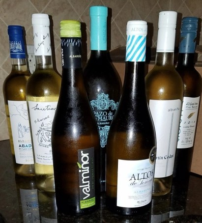 some of the wines we samples, chilled and ready to drink