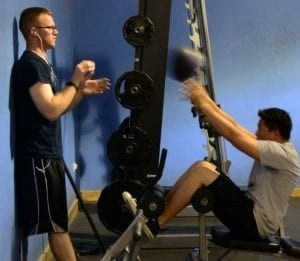 guy working out in a gym
