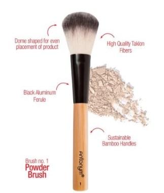 powder brush antonym