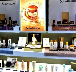 a display of Sulwhasoo products at aritaum
