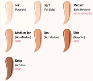 it cosmetics ulta color chart