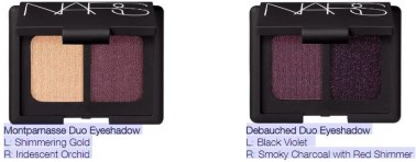 two eye shadow duos from nars holiday 2017 color collection