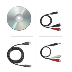 audio technica turntable cables and CD