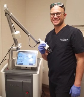 Dr. Bloom with a Pico Cutera laser