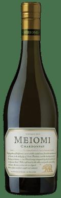 a bottle of Meiomi Chardonnay wine