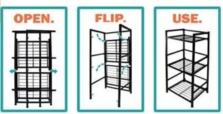 3 shelf narrow flipshelf