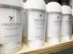 freedom deodorant natural and organic