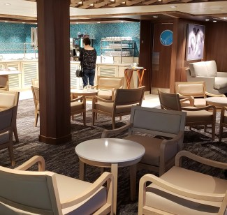 NCL lounge for solo passengers photo by alison blackman