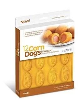 12 mini corn dogs in box silicone mold