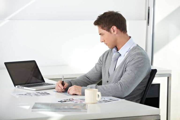 young man at office