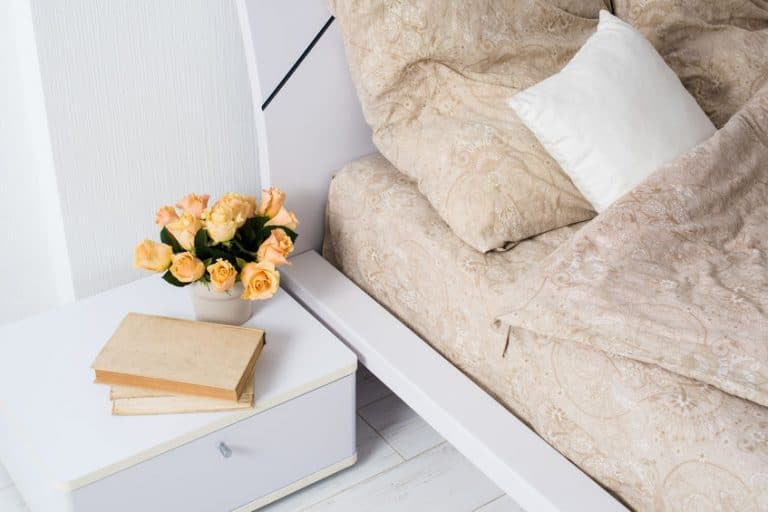 bed and a little table-box