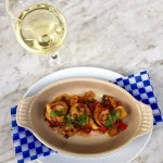 scallops and white wine