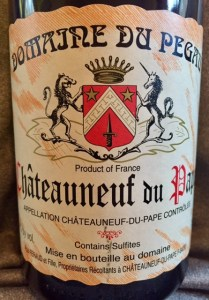 Chateauneuf du Pape France wine