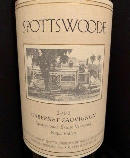 2002 Spottswoode Cabernet Sauvignon